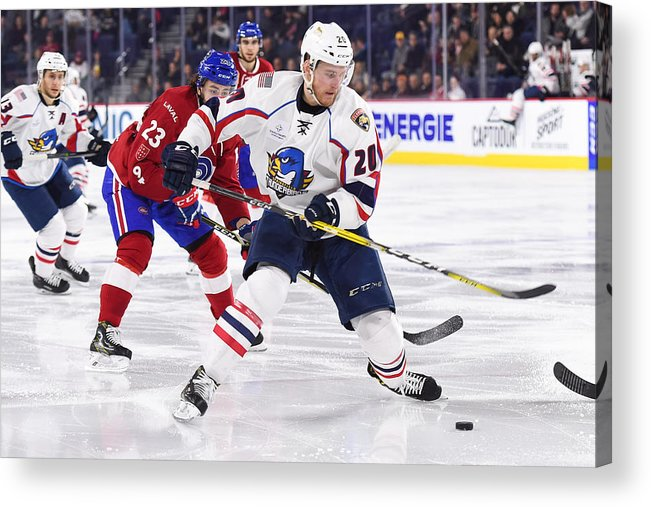 Sport Acrylic Print featuring the photograph AHL: APR 06 Springfield Thunderbirds at Laval Rocket by Icon Sportswire