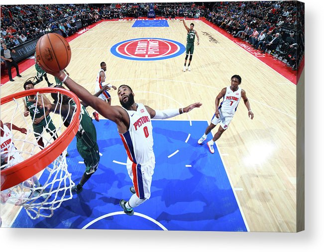 Nba Pro Basketball Acrylic Print featuring the photograph Andre Drummond by Brian Sevald
