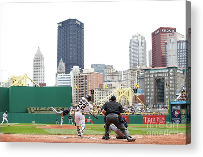 American League Baseball Acrylic Print featuring the photograph Andrew Mccutchen by Jared Wickerham