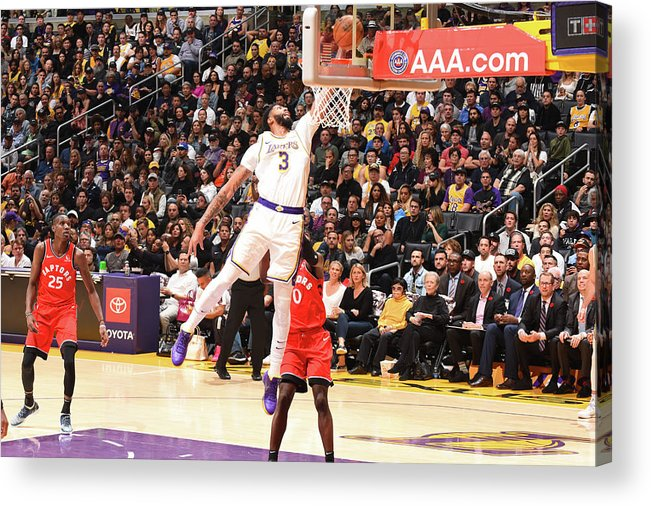 Nba Pro Basketball Acrylic Print featuring the photograph Anthony Davis by Andrew D. Bernstein