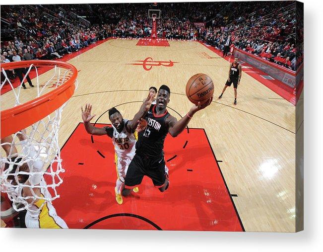 Nba Pro Basketball Acrylic Print featuring the photograph Clint Capela by Bill Baptist