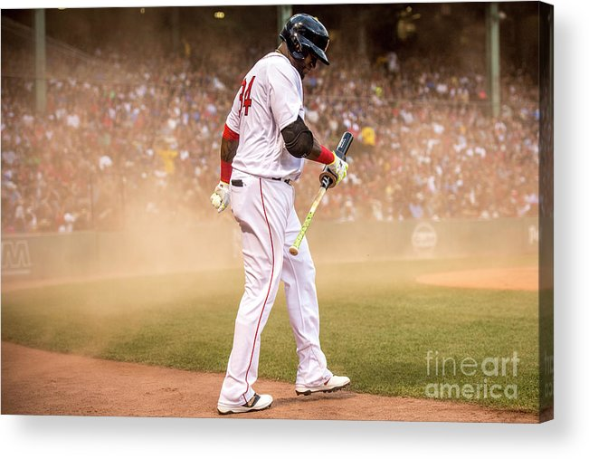 Wind Acrylic Print featuring the photograph David Ortiz by Billie Weiss/boston Red Sox