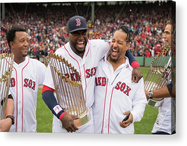 People Acrylic Print featuring the photograph David Ortiz by Michael Ivins/boston Red Sox