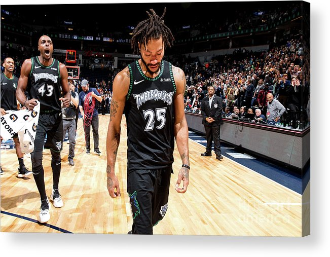 Nba Pro Basketball Acrylic Print featuring the photograph Derrick Rose by David Sherman