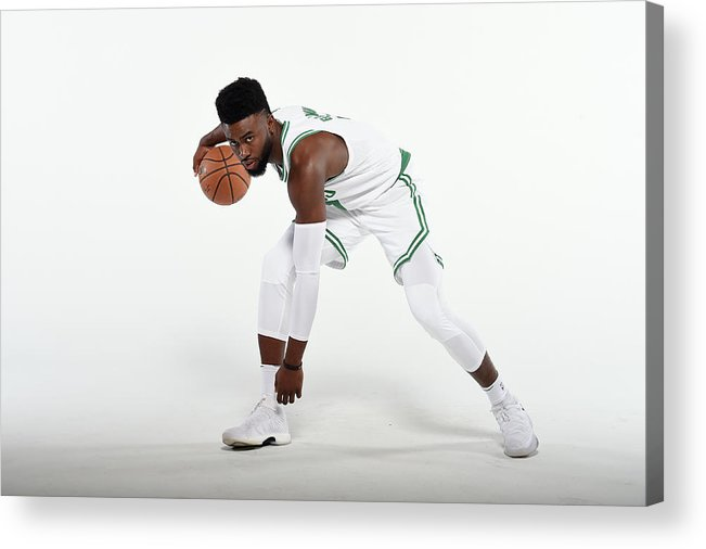 Media Day Acrylic Print featuring the photograph Jaylen Brown by Brian Babineau