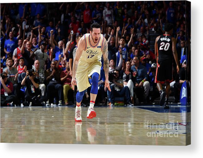 Playoffs Acrylic Print featuring the photograph J.j. Redick by Jesse D. Garrabrant