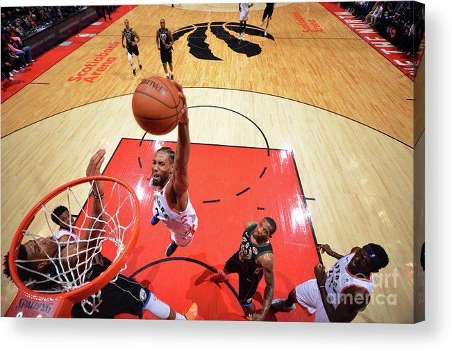 Nba Pro Basketball Acrylic Print featuring the photograph Kawhi Leonard by Jesse D. Garrabrant