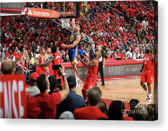 Playoffs Acrylic Print featuring the photograph Klay Thompson by Andrew D. Bernstein