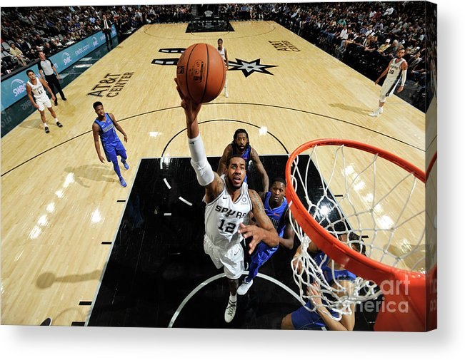 Nba Pro Basketball Acrylic Print featuring the photograph Lamarcus Aldridge by Mark Sobhani