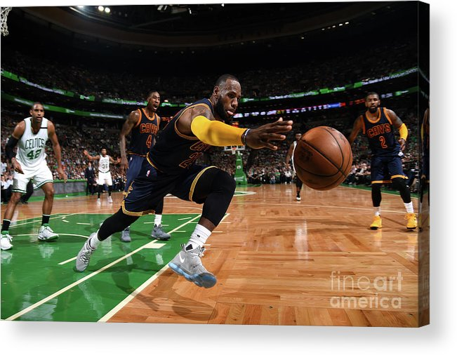 Playoffs Acrylic Print featuring the photograph Lebron James by Brian Babineau