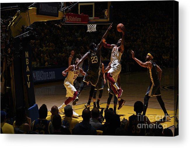 Playoffs Acrylic Print featuring the photograph Lebron James by Garrett Ellwood