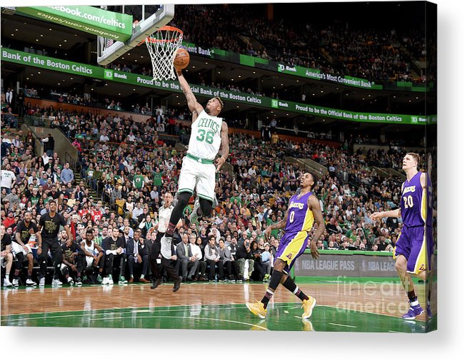 Nba Pro Basketball Acrylic Print featuring the photograph Marcus Smart by Brian Babineau