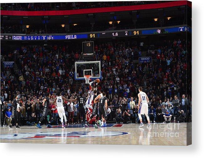 Nba Pro Basketball Acrylic Print featuring the photograph Robert Covington by Jesse D. Garrabrant
