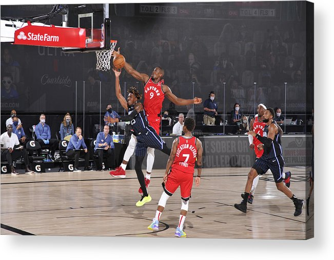 Nba Pro Basketball Acrylic Print featuring the photograph Serge Ibaka by Garrett Ellwood
