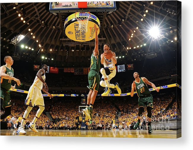 Playoffs Acrylic Print featuring the photograph Stephen Curry by Noah Graham