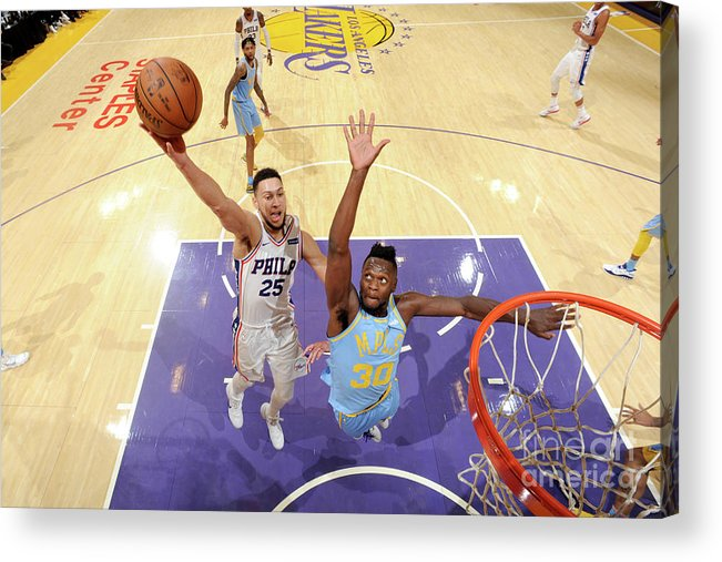 Nba Pro Basketball Acrylic Print featuring the photograph Ben Simmons by Andrew D. Bernstein