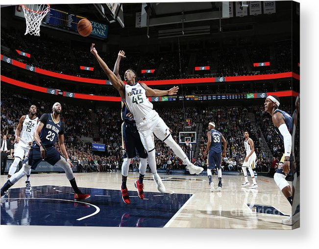 Nba Pro Basketball Acrylic Print featuring the photograph Donovan Mitchell by Melissa Majchrzak