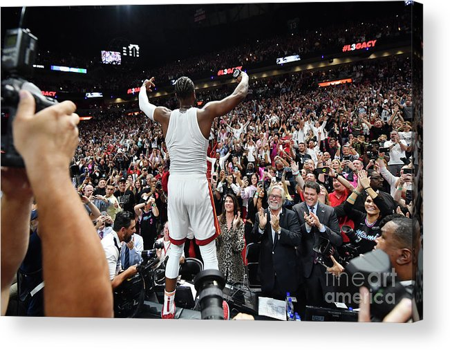 Nba Pro Basketball Acrylic Print featuring the photograph Dwyane Wade by Jesse D. Garrabrant