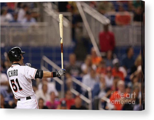 Second Inning Acrylic Print featuring the photograph Ichiro Suzuki by Rob Foldy