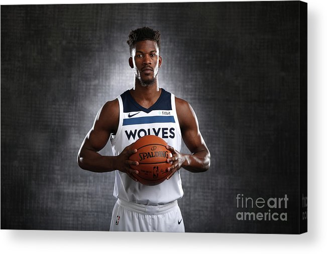 Media Day Acrylic Print featuring the photograph Jimmy Butler by David Sherman