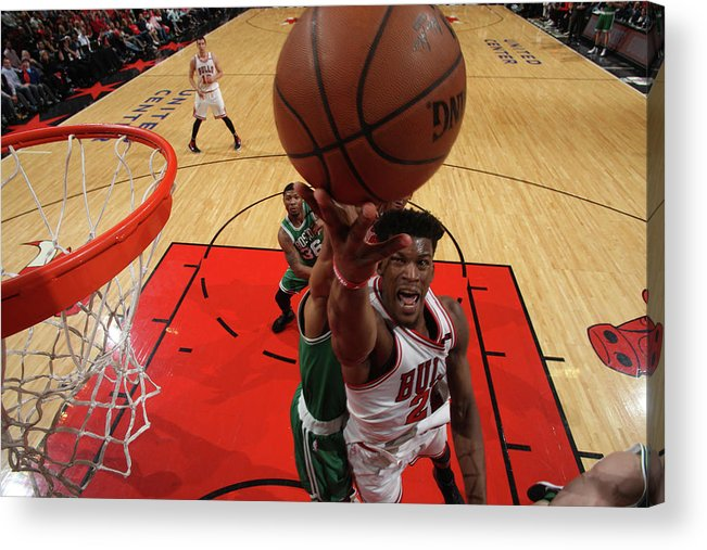 Playoffs Acrylic Print featuring the photograph Jimmy Butler by Gary Dineen
