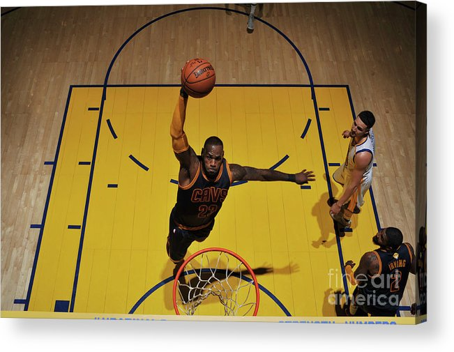 Playoffs Acrylic Print featuring the photograph Lebron James by Garrett Ellwood