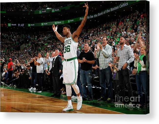 Playoffs Acrylic Print featuring the photograph Marcus Smart by Brian Babineau