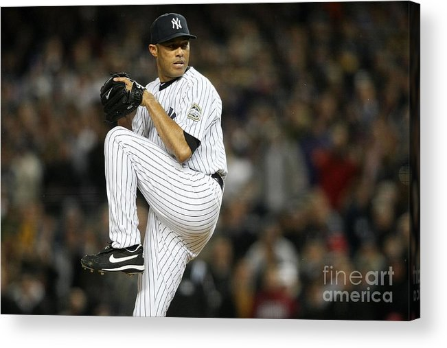 American League Baseball Acrylic Print featuring the photograph Mariano Rivera by Nick Laham