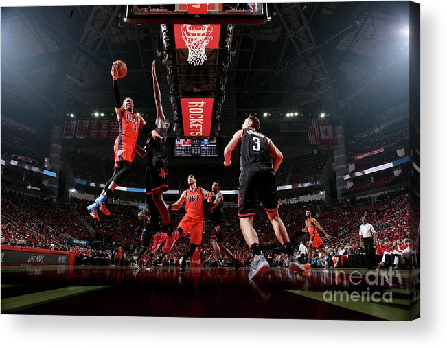 Playoffs Acrylic Print featuring the photograph Russell Westbrook by Nathaniel S. Butler