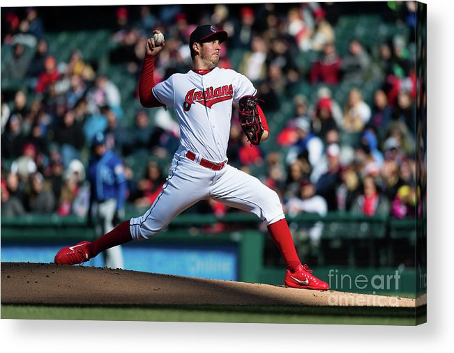 People Acrylic Print featuring the photograph Trevor Bauer by Jason Miller