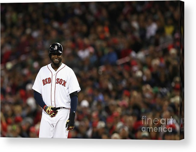 Second Inning Acrylic Print featuring the photograph David Ortiz by Elsa