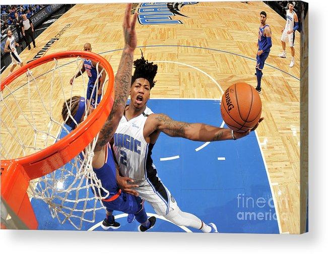 Nba Pro Basketball Acrylic Print featuring the photograph Elfrid Payton by Fernando Medina