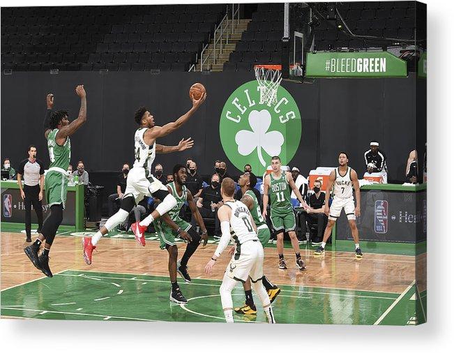 Nba Pro Basketball Acrylic Print featuring the photograph Giannis Antetokounmpo by Brian Babineau