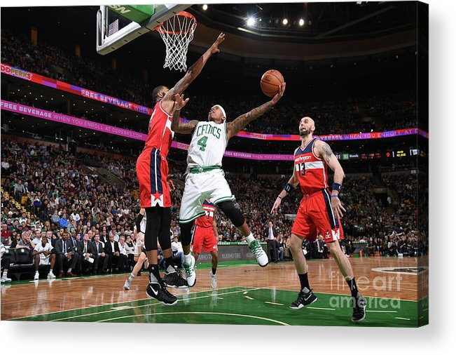 Nba Pro Basketball Acrylic Print featuring the photograph Isaiah Thomas by Brian Babineau