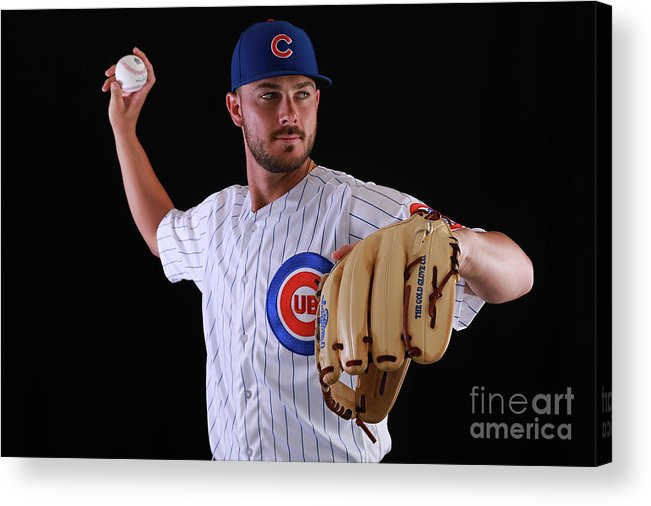 Media Day Acrylic Print featuring the photograph Kris Bryant by Gregory Shamus