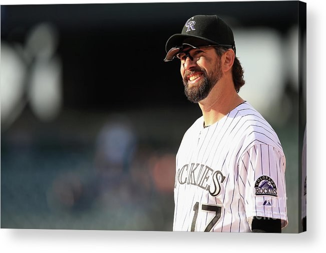Todd Helton Acrylic Print featuring the photograph Todd Helton by Doug Pensinger