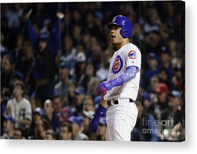 Second Inning Acrylic Print featuring the photograph Willson Contreras by Jonathan Daniel