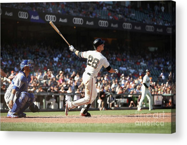 San Francisco Acrylic Print featuring the photograph Buster Posey by Ezra Shaw
