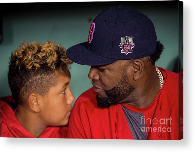 People Acrylic Print featuring the photograph David Ortiz by Billie Weiss/boston Red Sox
