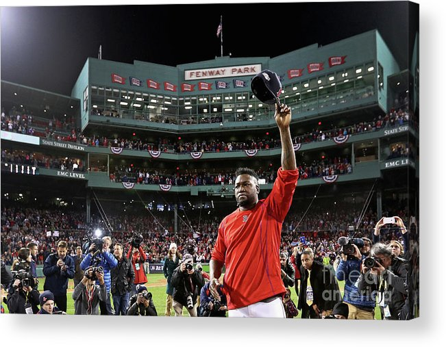 Three Quarter Length Acrylic Print featuring the photograph David Ortiz by Maddie Meyer