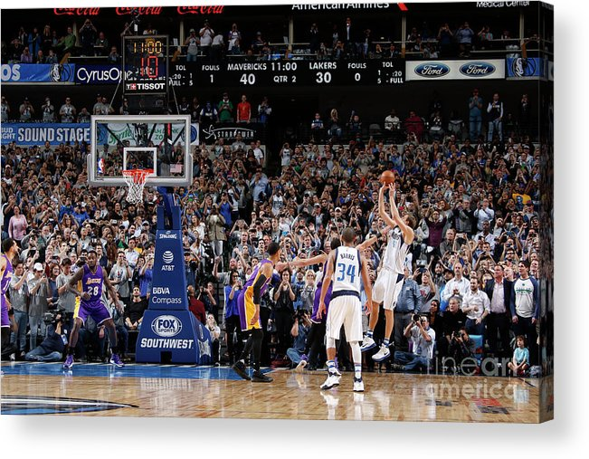 Nba Pro Basketball Acrylic Print featuring the photograph Dirk Nowitzki by Danny Bollinger