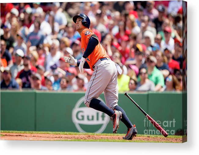 Second Inning Acrylic Print featuring the photograph George Springer by Billie Weiss/boston Red Sox