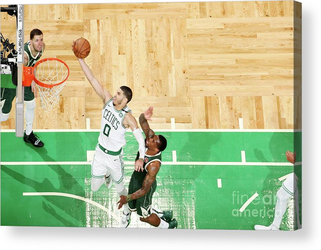 Playoffs Acrylic Print featuring the photograph Jayson Tatum by Nathaniel S. Butler