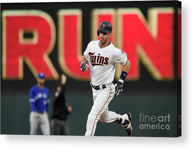 Joe Mauer Acrylic Print featuring the photograph Joe Mauer by Hannah Foslien