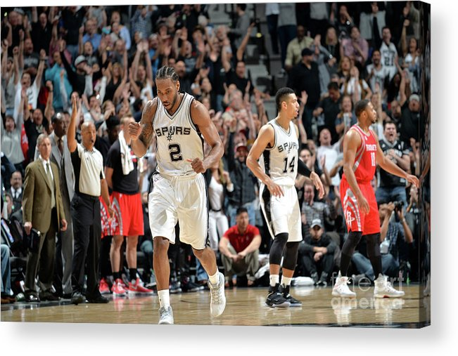 Nba Pro Basketball Acrylic Print featuring the photograph Kawhi Leonard by Mark Sobhani