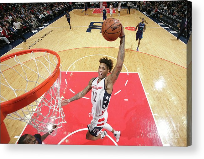 Nba Pro Basketball Acrylic Print featuring the photograph Kelly Oubre by Ned Dishman