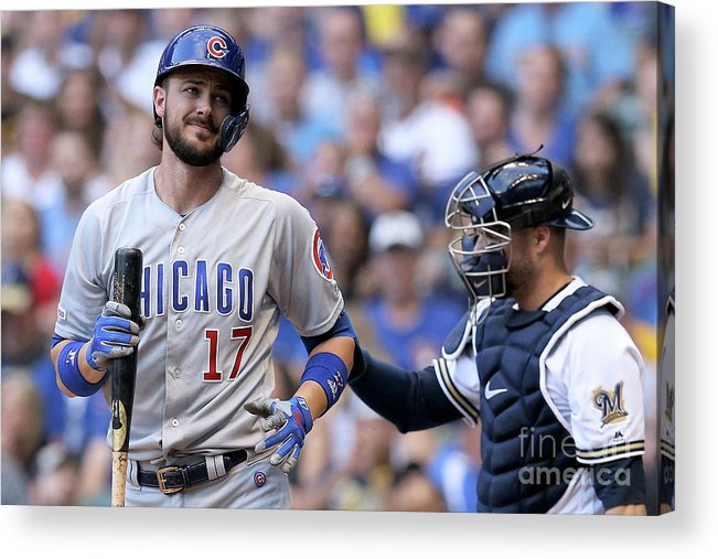 People Acrylic Print featuring the photograph Kris Bryant by Dylan Buell