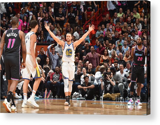 Nba Pro Basketball Acrylic Print featuring the photograph Stephen Curry by Jesse D. Garrabrant
