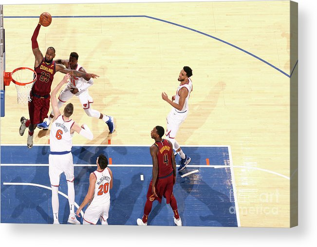 Nba Pro Basketball Acrylic Print featuring the photograph Lebron James by Nathaniel S. Butler