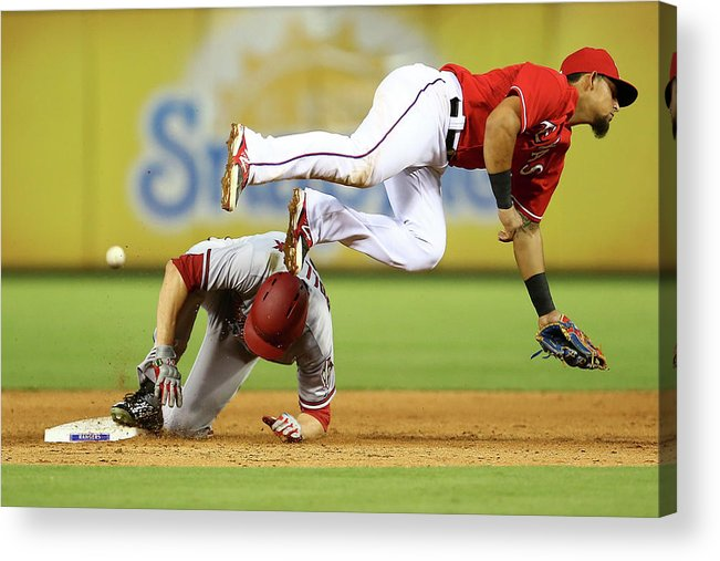 People Acrylic Print featuring the photograph A. J. Pollock by Sarah Crabill